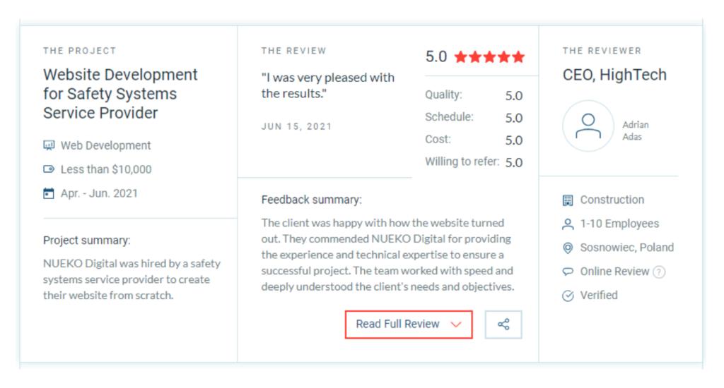 NUEKO Digital recenzja Clutch